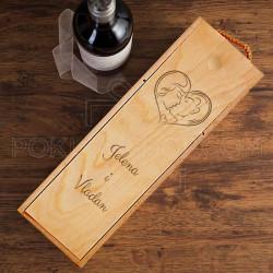 Poljubac poklon kutija za vino