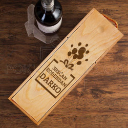 Srećan rođendan sa imenom poklon kutija za vino