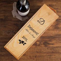 Porodica prezime poklon kutija za vino