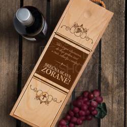 Tebi i ukućanima srećna slava poklon kutija za vino