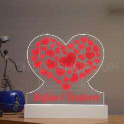 Srca u srcu poklon lampa