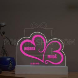 Naša srca poklon lampa