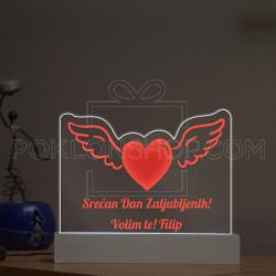 Srećan Dan Zaljubljenih poklon lampa