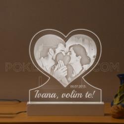 Naša ljubav poklon lampa