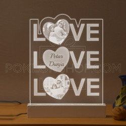 Tri puta Love poklon lampa