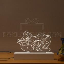 Kojot surfuje poklon lampa