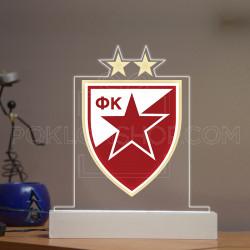 Crvena zvezda grb poklon lampa