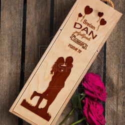 Ljubavi, srećan ti Dan zaljubljenih poklon kutija za vino