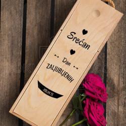 Srećan Dan zaljubljenih poklon kutija za vino