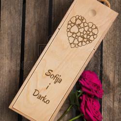 Srce poklon kutija za vino