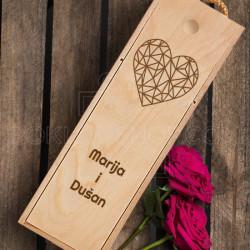 Mrežasto srce poklon kutija za vino
