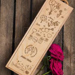 Ljubavna poklon kutija za vino