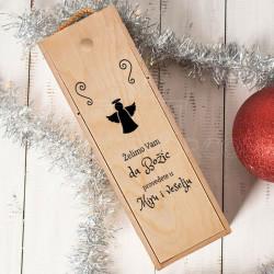Srećan vam Božić poklon kutija za vino
