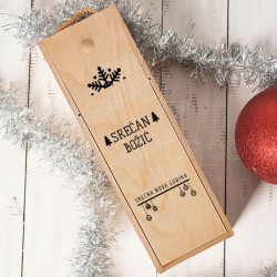 Srećan Božić poklon kutija za vino