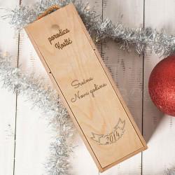 Srećna Nova godina porodična poklon kutija za vino