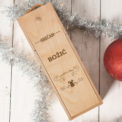 Srećan Božić vama želimo poklon kutija za vino