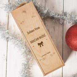 Srećan Božić naša porodica poklon kutija za vino