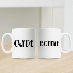 Bonnie i Clyde poklon šolje