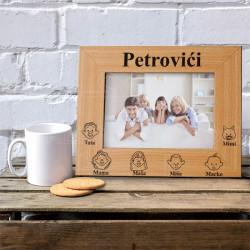 Članovi porodice poklon ram za slike
