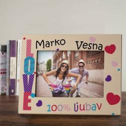 100 posto ljubav poklon ram za slike