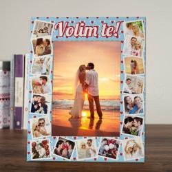 Ljubavni kolaž poklon ram za slike