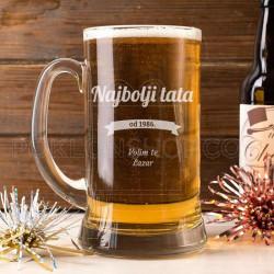 Najbolji tata poklon čaša za pivo