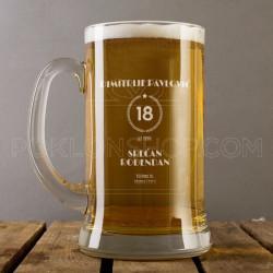 Osamnaesti rođendan poklon čaša za pivo