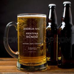 Pij i ponovi poklon čaša za pivo