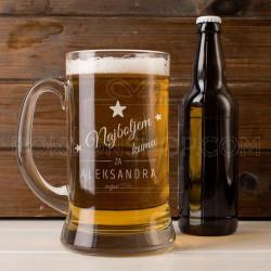 Najboljem kumu poklon čaša za pivo