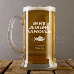 Na pecanju poklon čaša za pivo