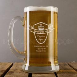 Kvalitetno pivo poklon čaša za pivo