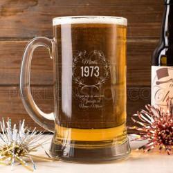 Godina rođenja poklon čaša za pivo