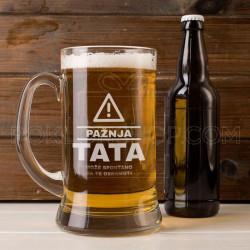 Paznja! poklon čaša za pivo