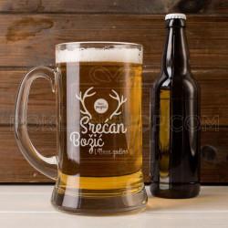 Rogovi i Božić poklon čaša za pivo