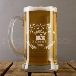 Srećan Božić i praznici poklon čaša za pivo