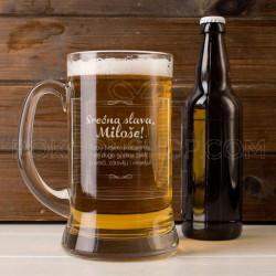 Srećna slava poklon krigla za pivo