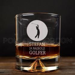 Najbolji golfer poklon čaša za viski