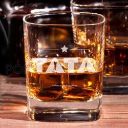 Tata volimo te poklon čaša za viski