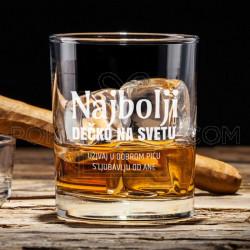 Najbolji dečko poklon čaša za viski