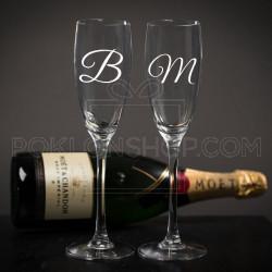 Inicijal poklon čaša za šampanjac