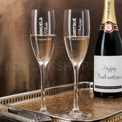 Mlada i mladoženja datum poklon čaša za šampanjac