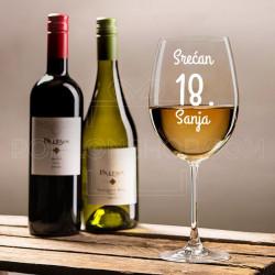 Rođendanska poklon čaša za vino