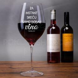 Za instant sreću dodaj vina poklon čaša za vino