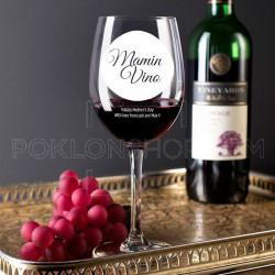 Mamino vino poklon čaša za vino
