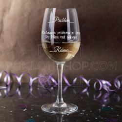Problem rešen poklon čaša za vino
