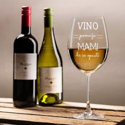 Vino pomaže mami da se opusti poklon čaša za vino