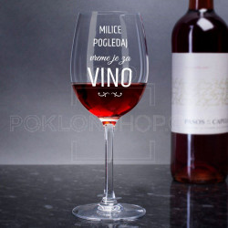 Draga vreme je za vino poklon čaša za vino