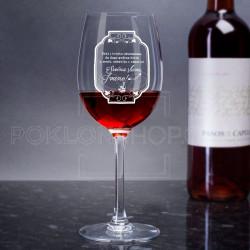 Život u zdravlju i sreći poklon čaša za vino