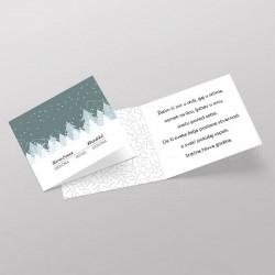 Pozivnica sa snegom