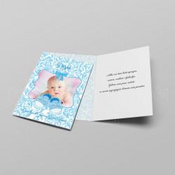 Plave patofne čestitka za rođenje deteta